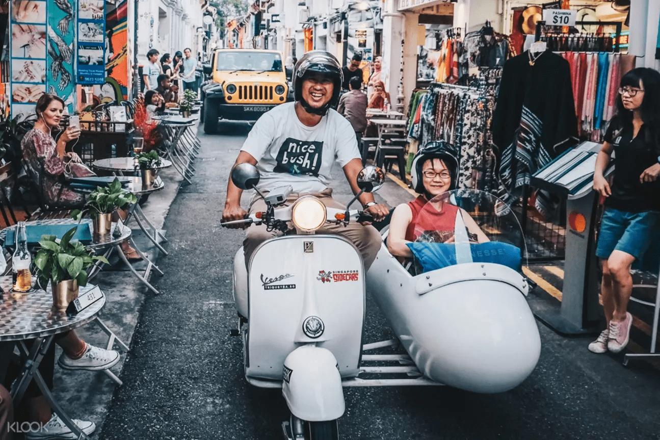 Vespa sidecar heritage tour