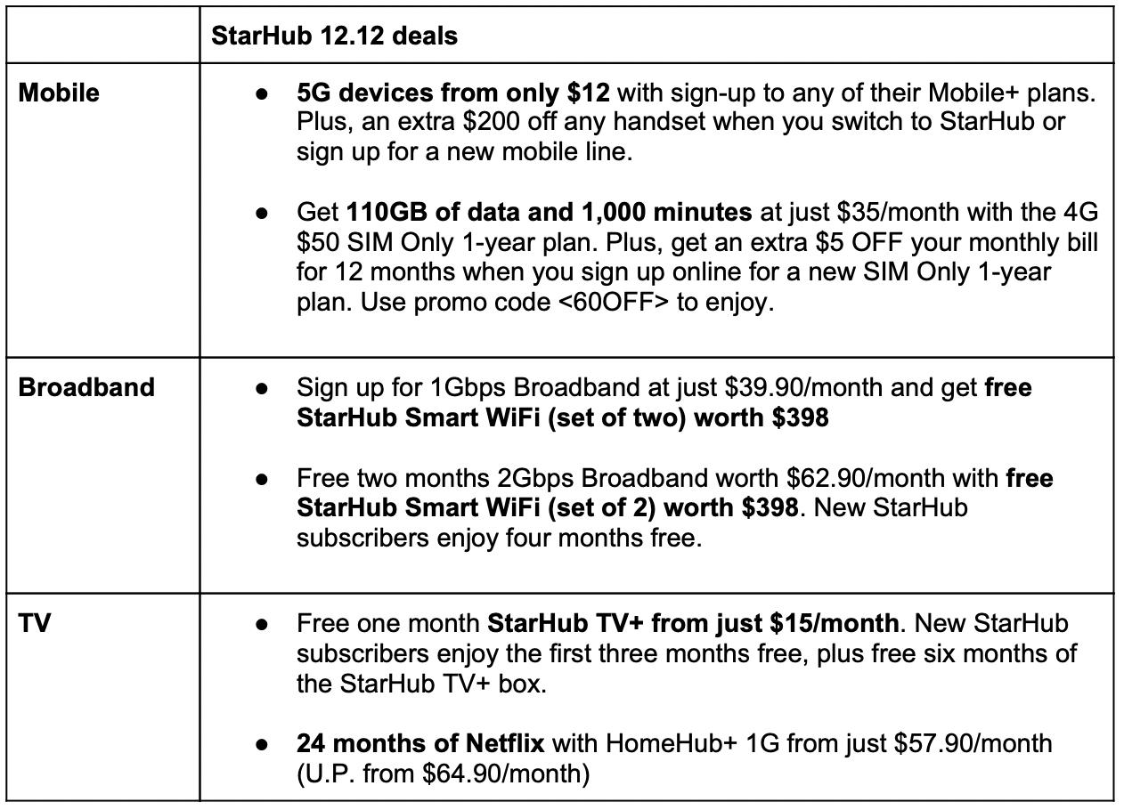 StarHub deals
