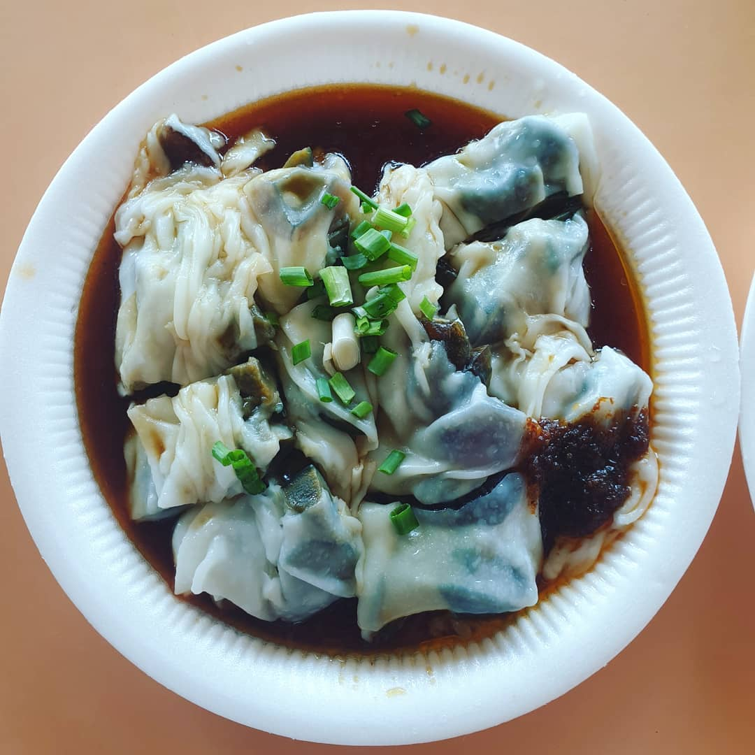 centruy egg chee cheong fun at freshly made chee cheong fun