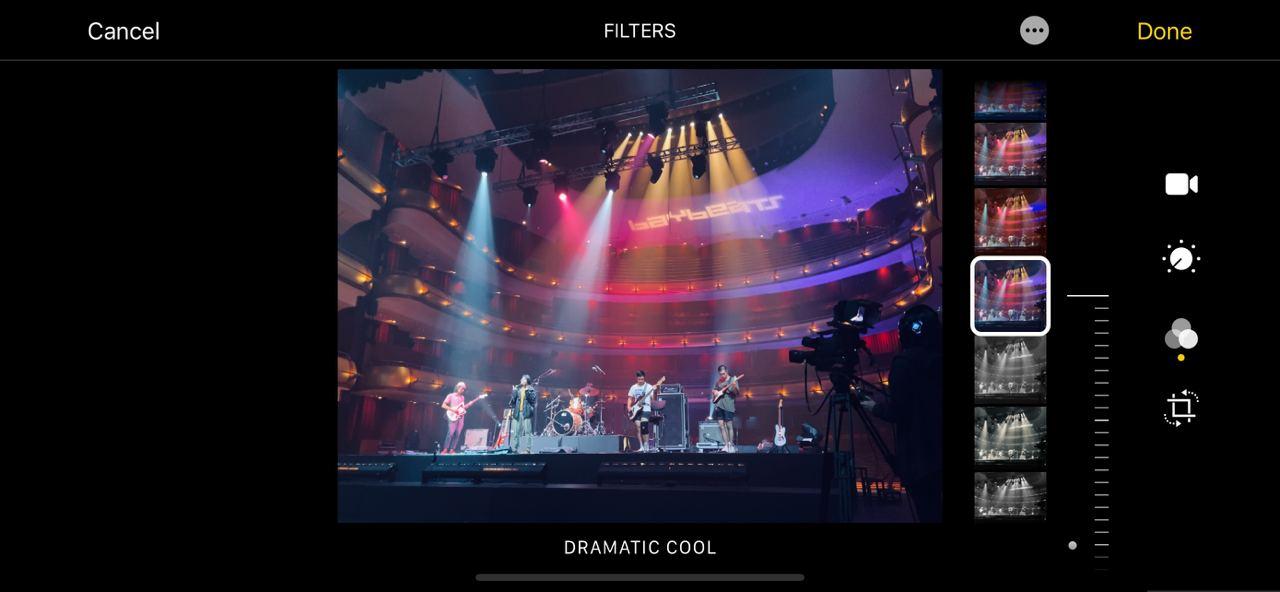 Colour grading video on iPhone Photos app