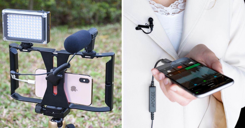 External mics for crisp audio on iphone videos