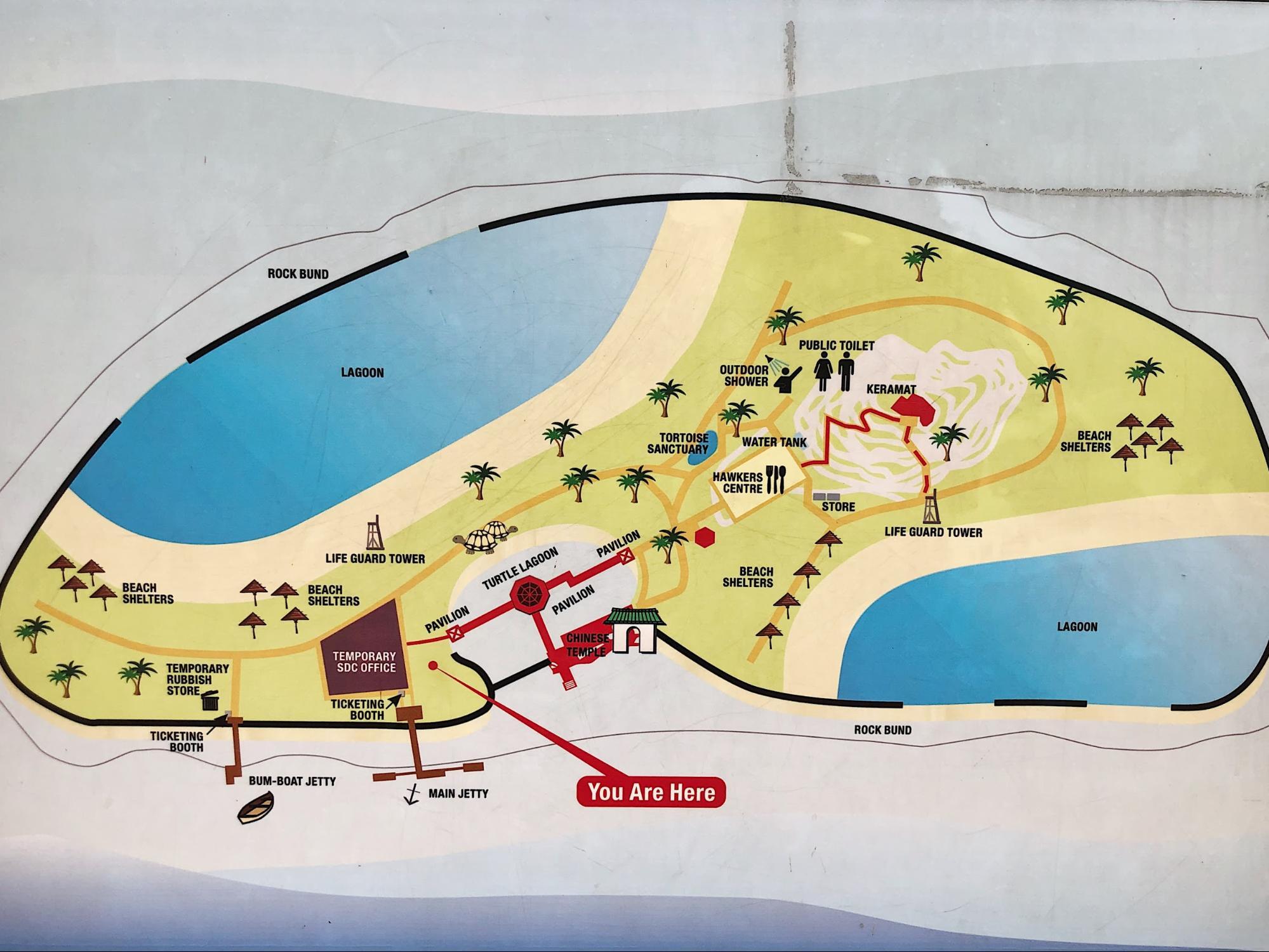 kusu island map