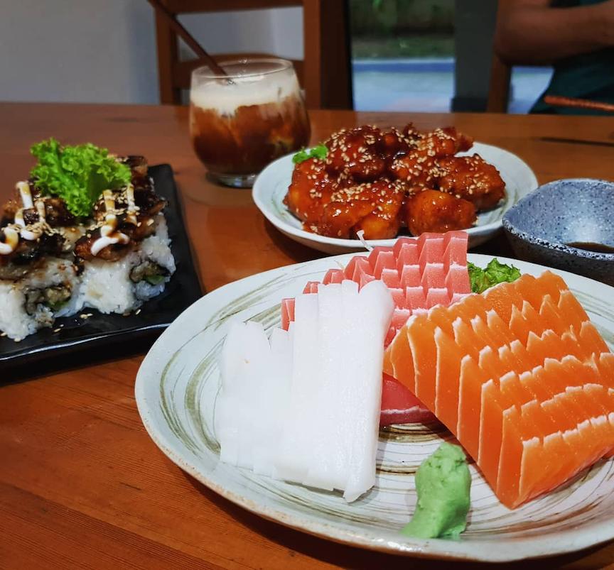 new cafes restaurants january 2021 - lucky cat vegetarian sashimi