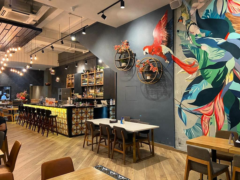 new cafes restaurants january 2021 - masalaa bar interior