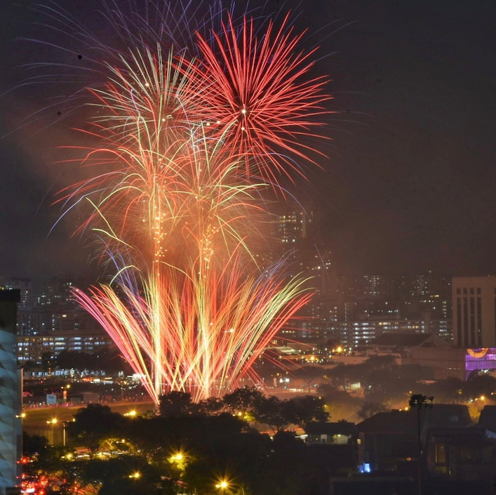 new year's eve fireworks singapore - bishan fireworks