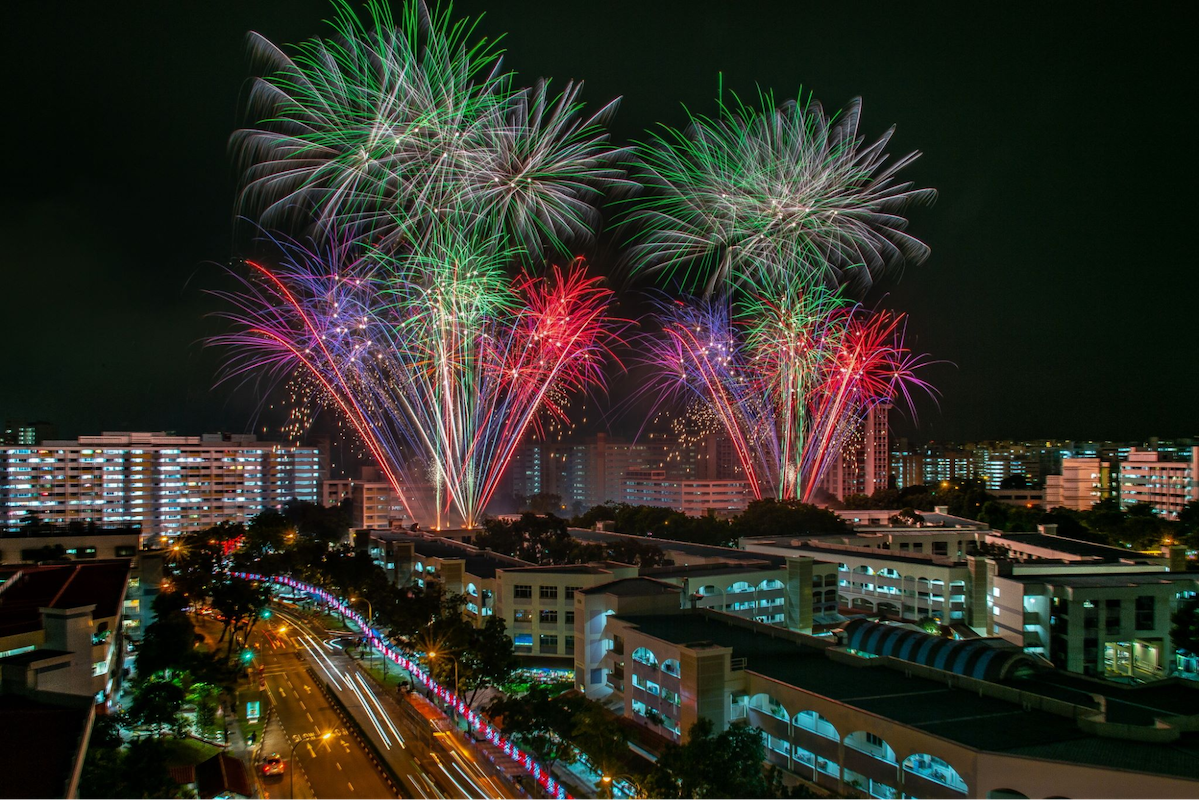 new year's eve fireworks - hougang