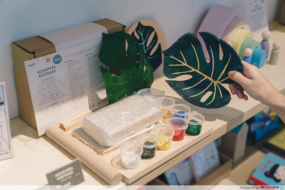 Monstera Keepsake craft kit ($40) Sage Artlier