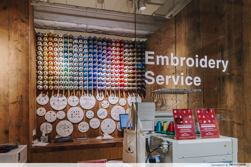 secret santa christmas gifts for colleagues - muji embroidery service singapore