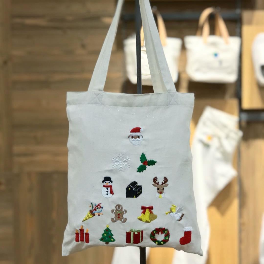 muji embroidery service christmas custom