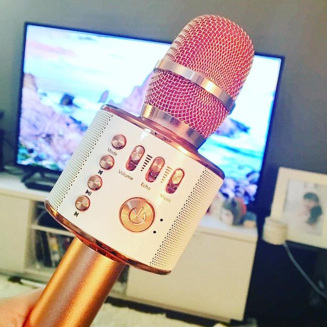 secret santa christmas gifts for colleagues - portable karaoke microphone