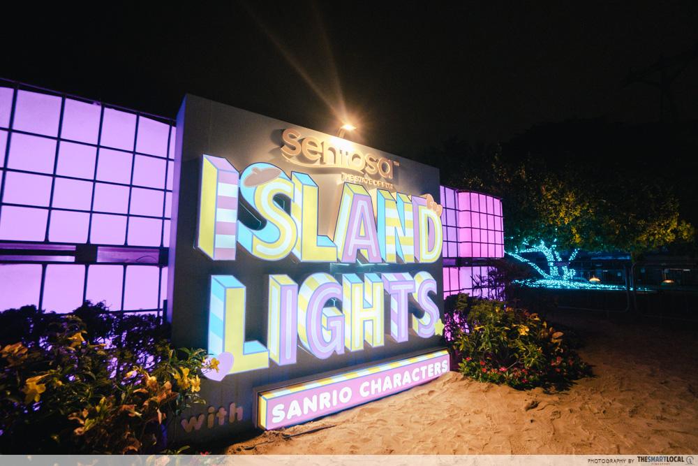sentosa island lights 2020
