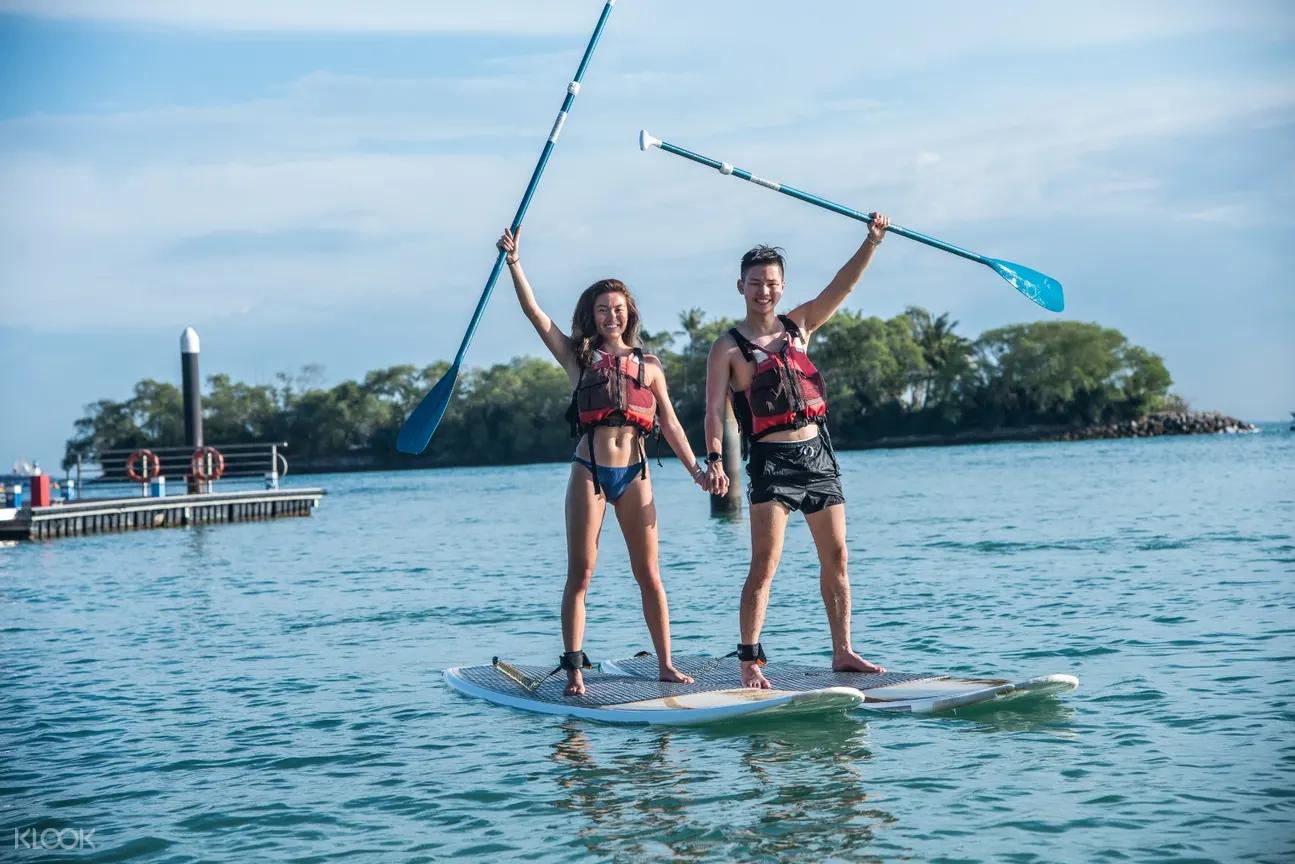 beach paddleboarding singaporediscovers vouchers itinerary