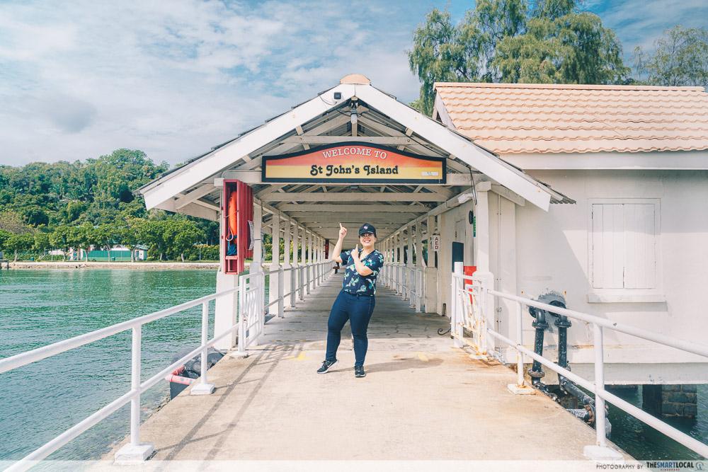 st john's and lazarus island singapore - jetty