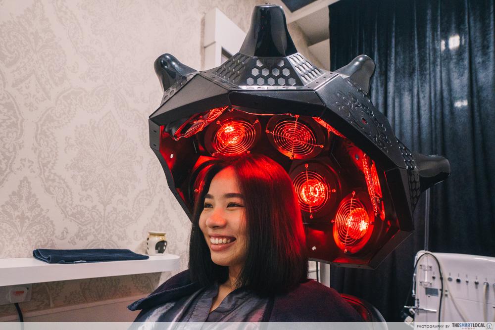TK Trichokare hair treatment - infra-red treatment