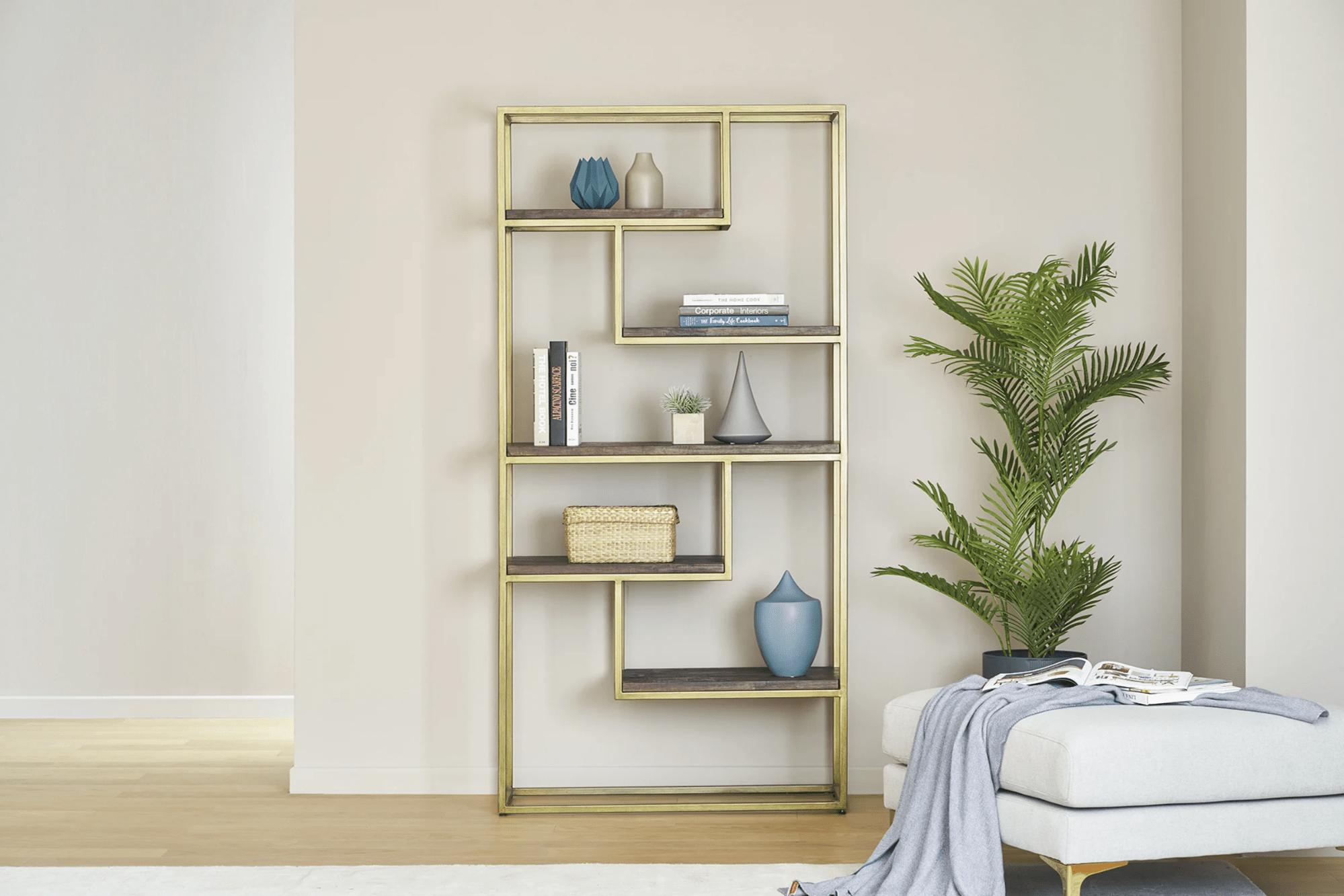 Castlery Luxe gold shelf