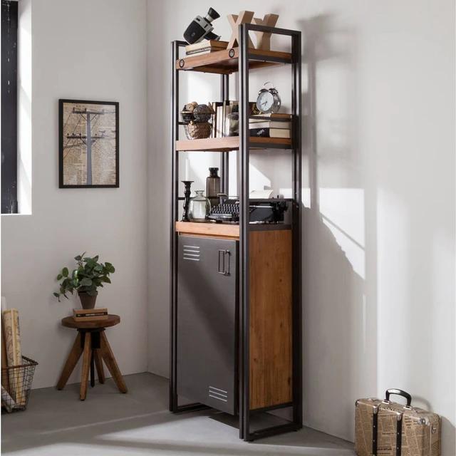 Bookshelf with metal door from Nook & Cranny