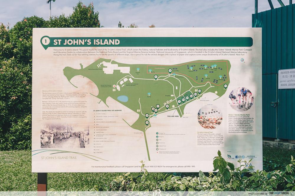 st john's and lazarus island singapore - map