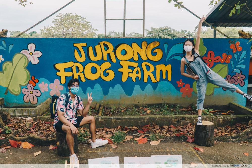 mural of jurong frog farm