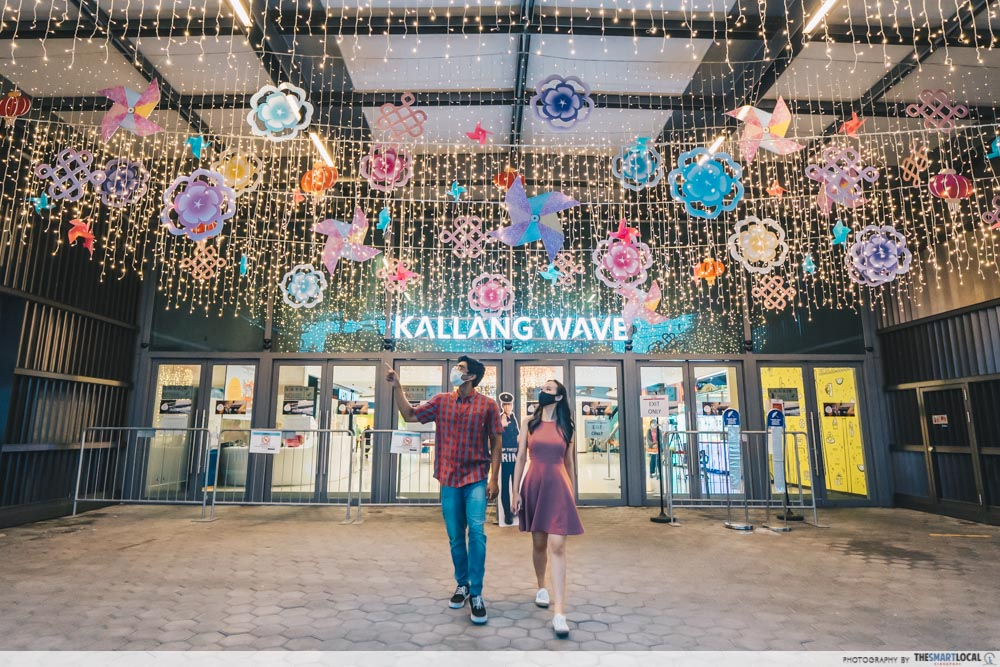 exterior fairy lights photo-op at kallang wave mall
