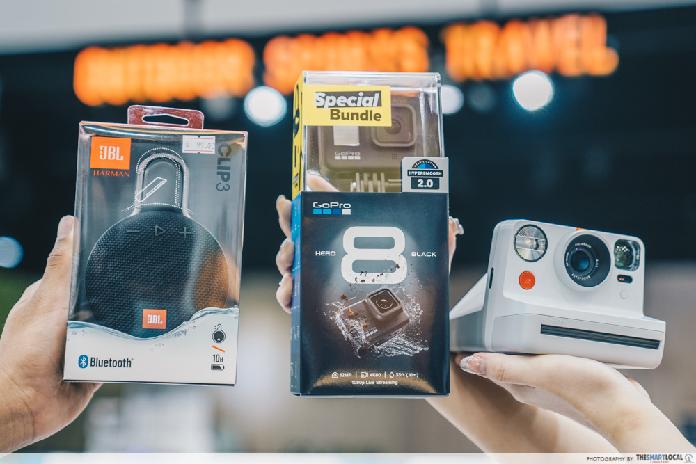 products like polaroid now, gopro and jbl speaker
