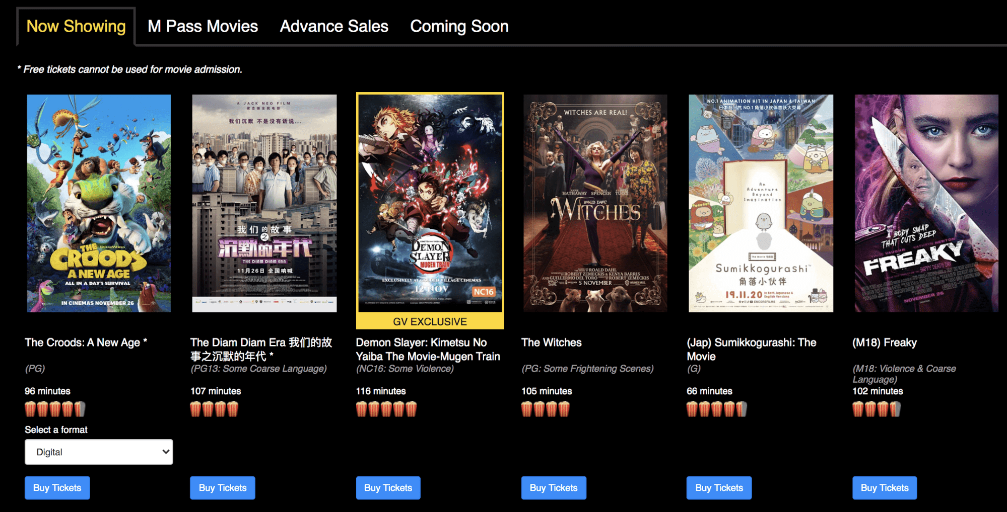 golden village exclusive movies