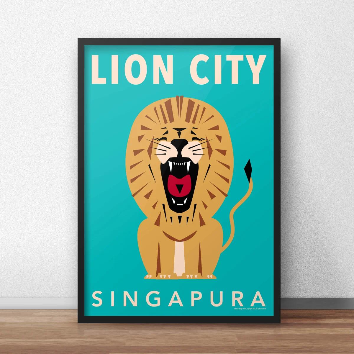 lion city - roar! framed by eck&art