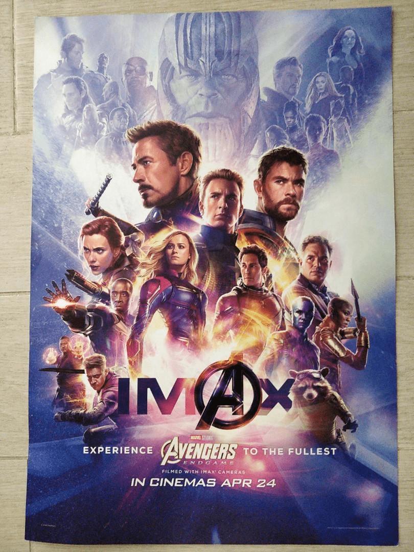 avengers endgame imax mini poster
