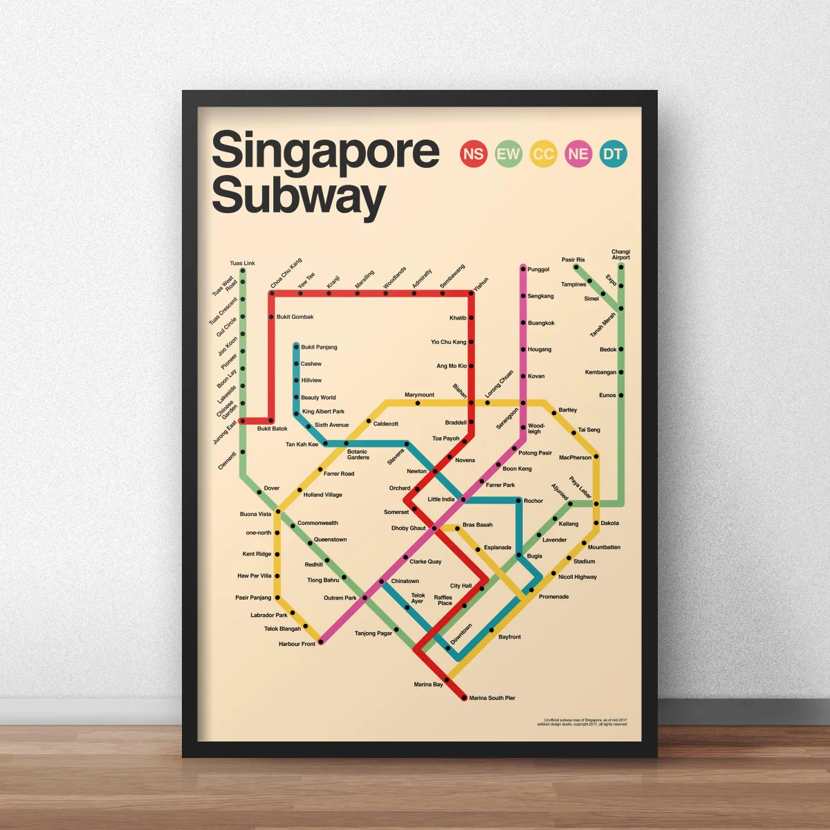 singapore subway poster by eck&art