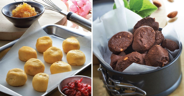 Mdm Ling Bakery - Cranberry Pineapple Balls and Pink Himalayan Sea Salt Chocolate Almond Cookies