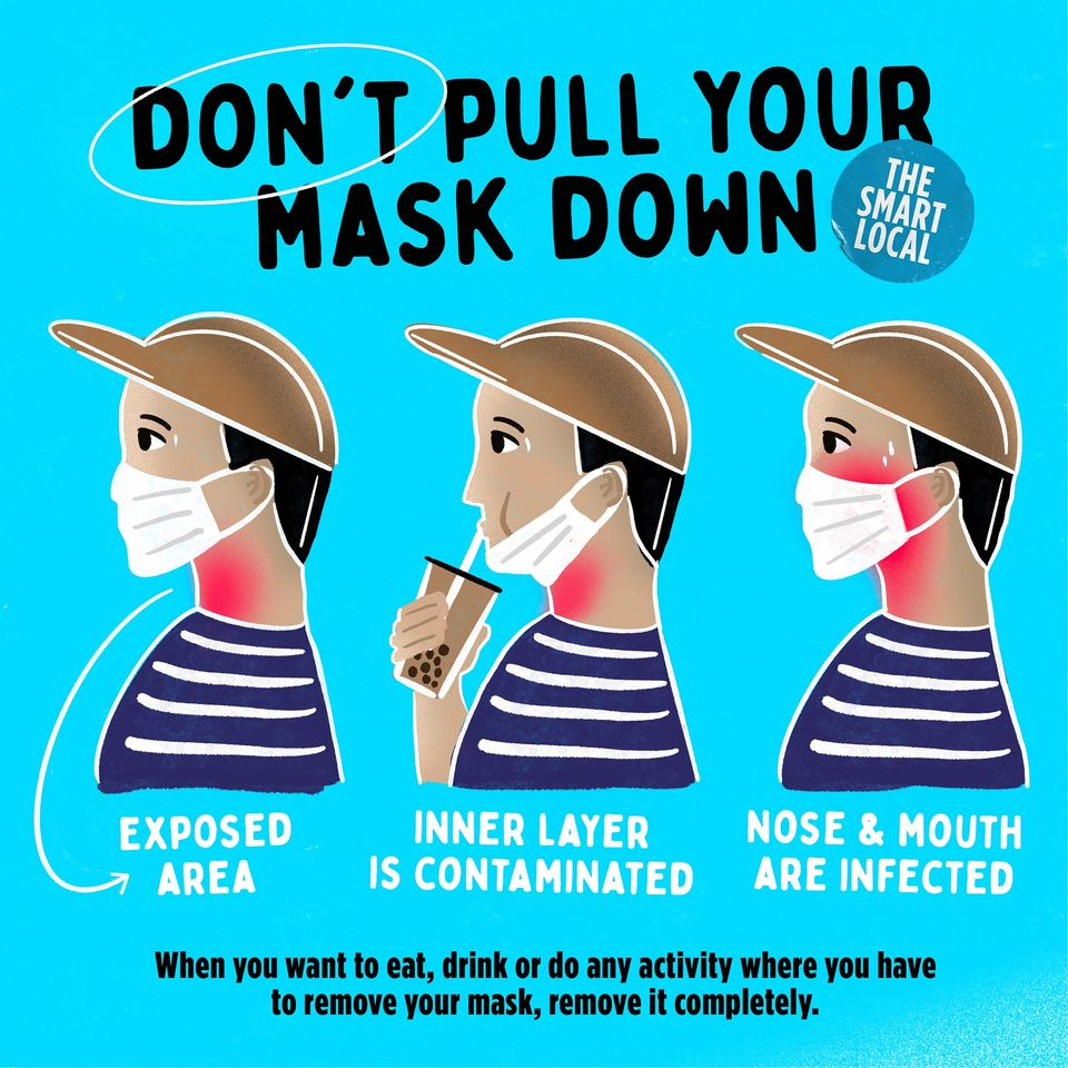 Face mask mistakes - Infographic on why you shouldn't pull down your mask