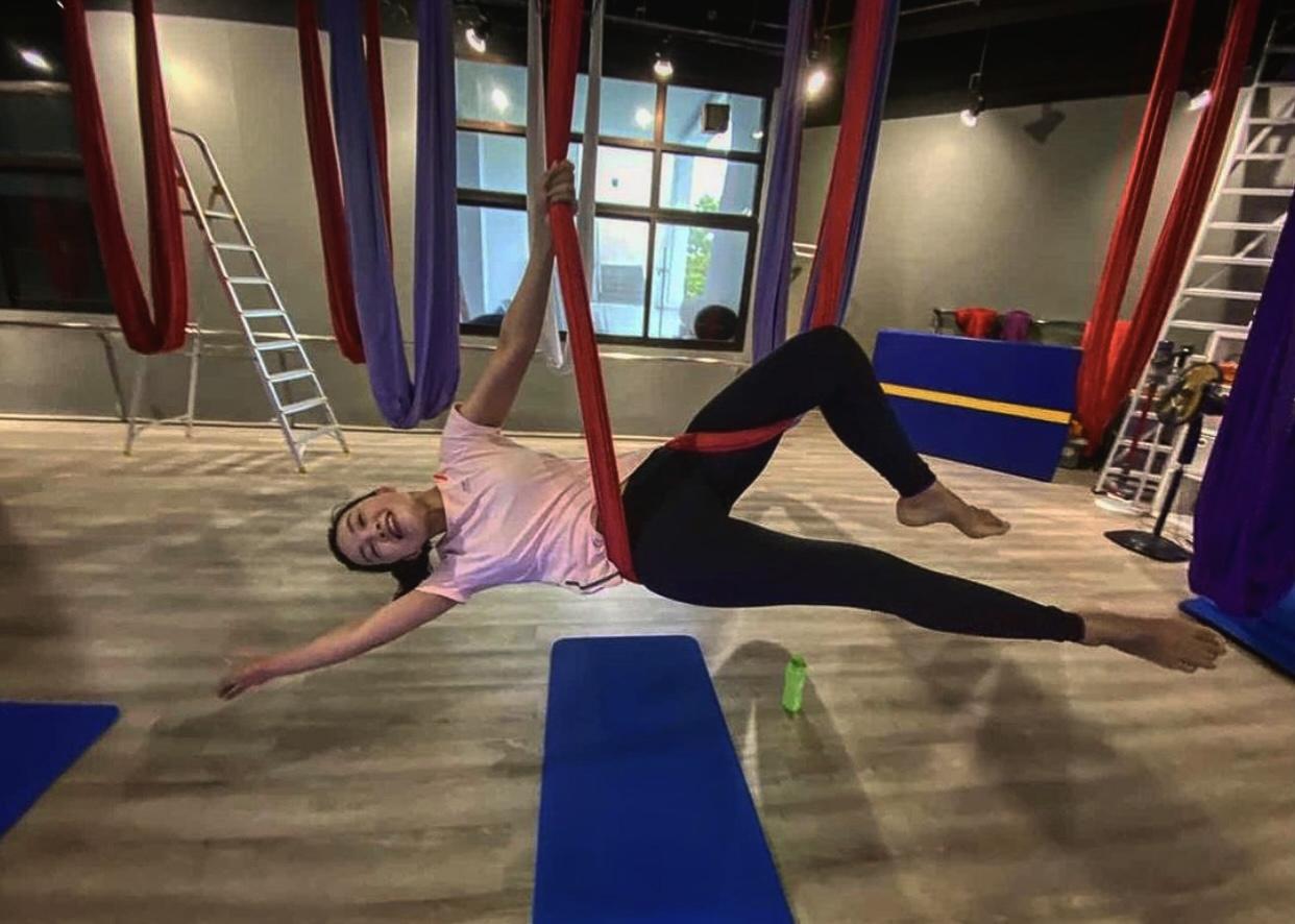Mindful Movement Singapore aerial yoga