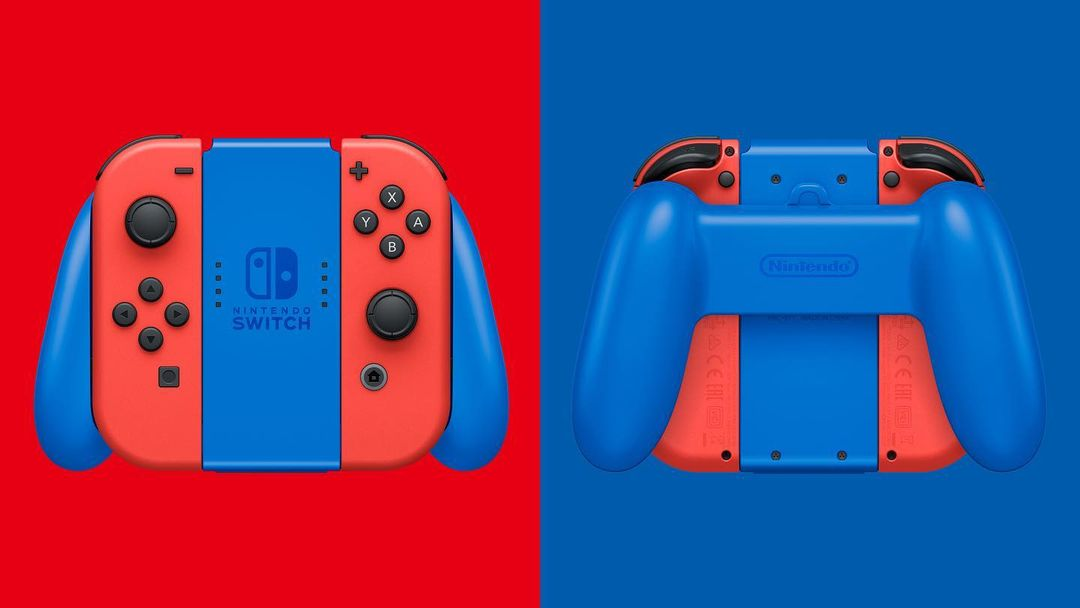 Red and blue mario Joy-cons
