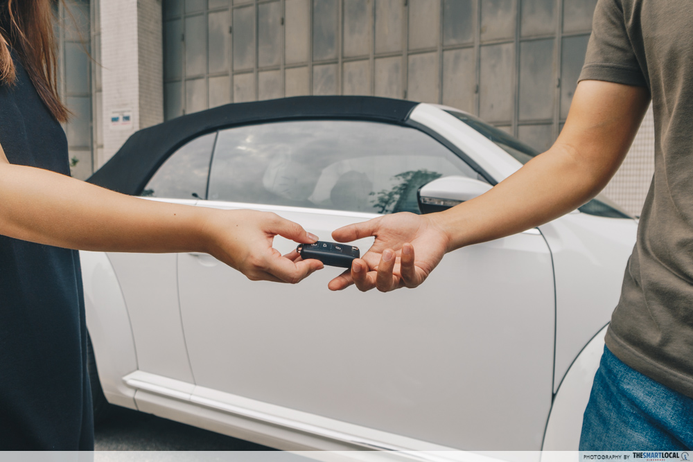 second hand used car singapore - buying a used car exchange keys