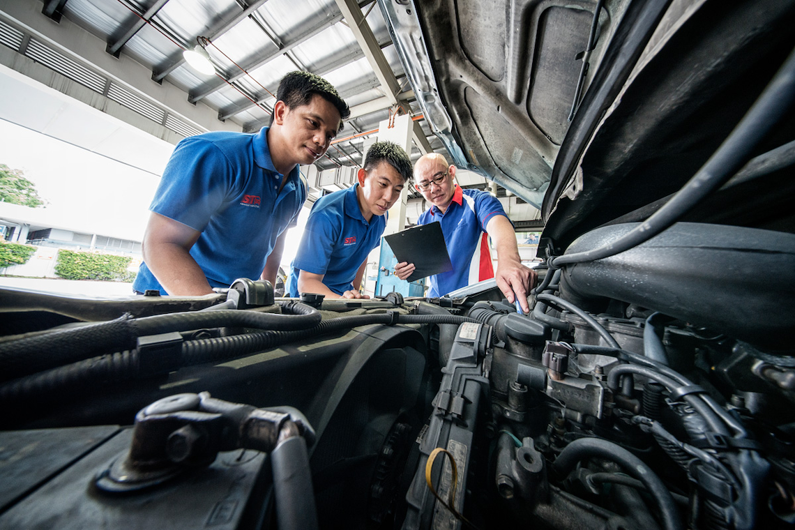 second hand used car singapore - vehicle inspection by STA
