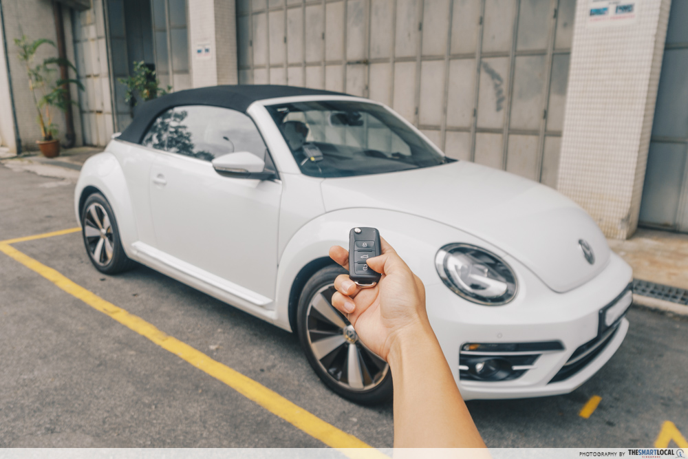 second hand used car singapore - unlocking car with key