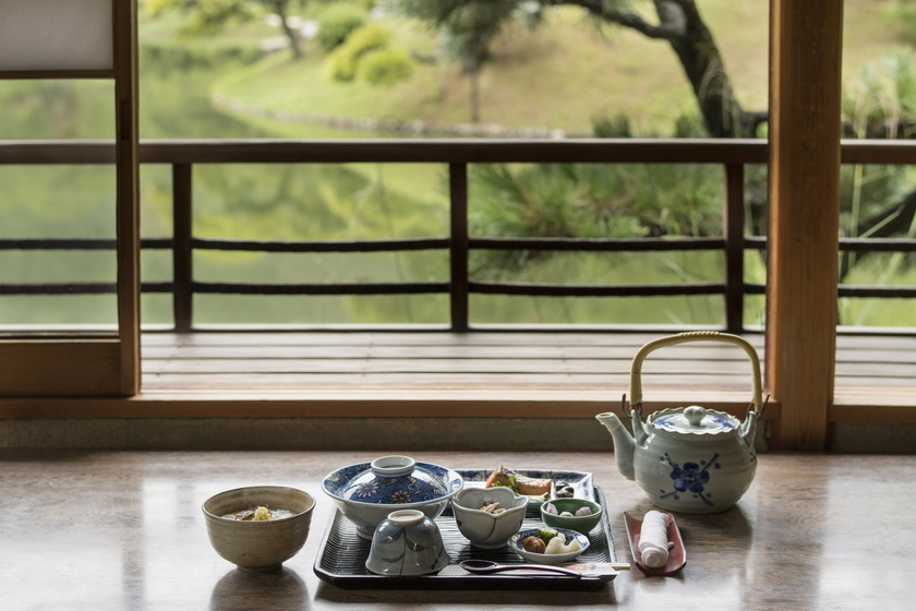 Hanazono-tei Tea House Breakfast set