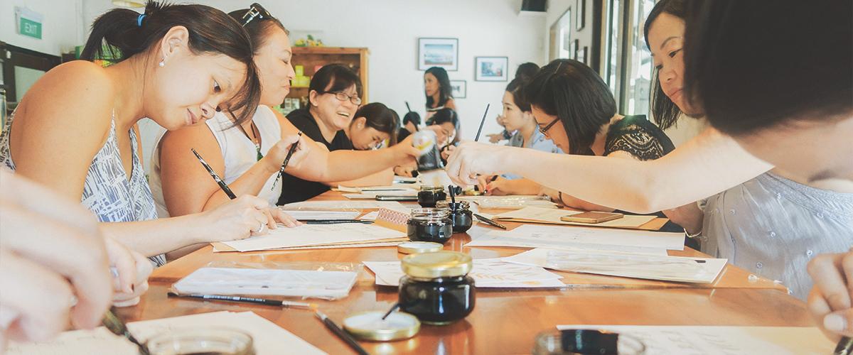 watercolour painting classes singapore -