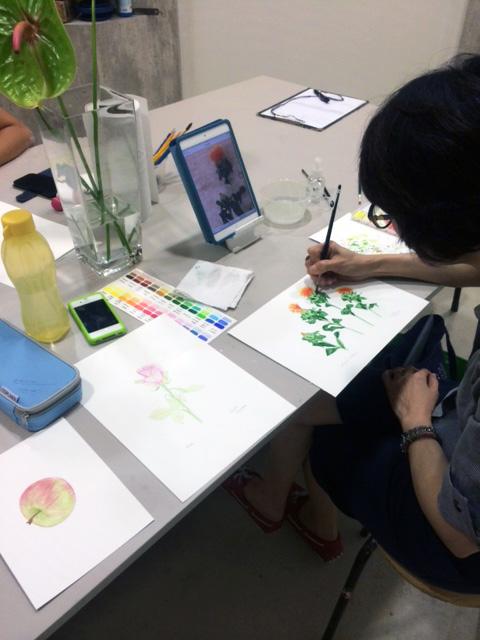 watercolour painting classes singapore - studio miu