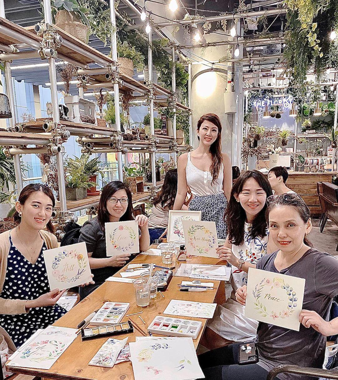 watercolour painting classes singapore - lydia syiariel