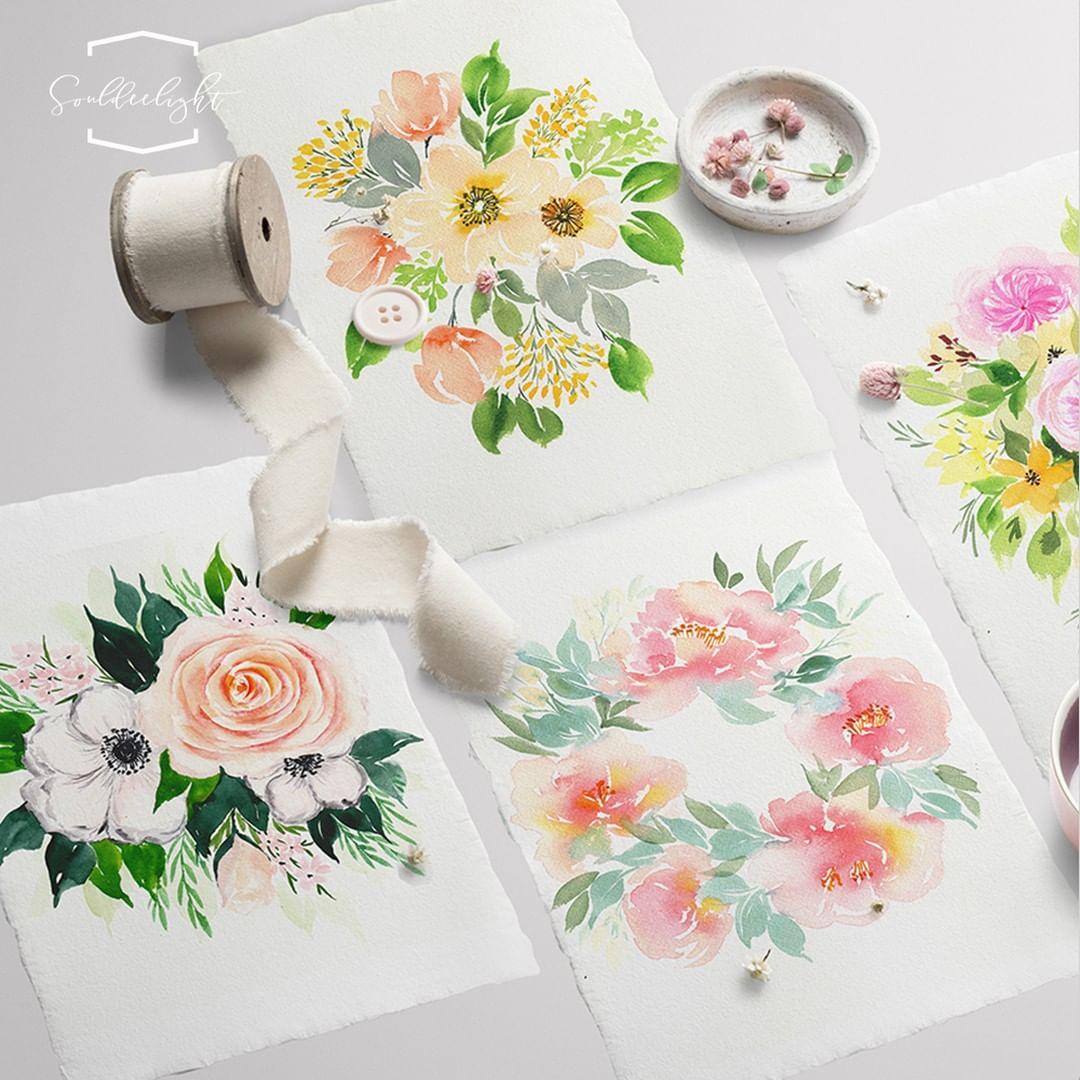 watercolour painting classes singapore - souldeelight floral