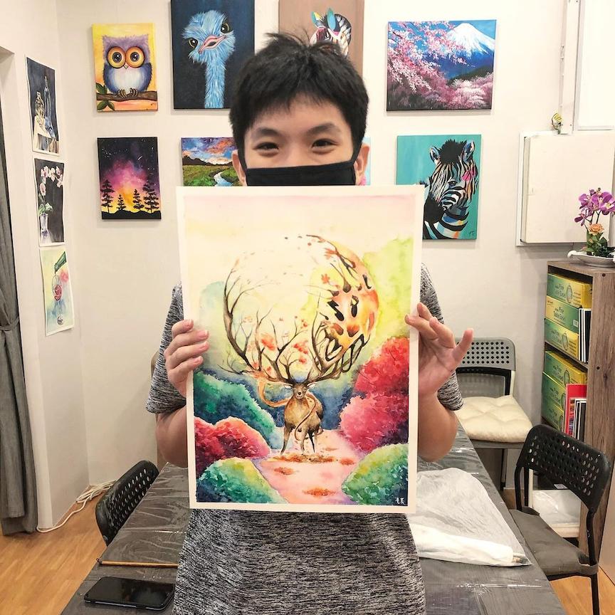 watercolour painting classes singapore - artlette art studio