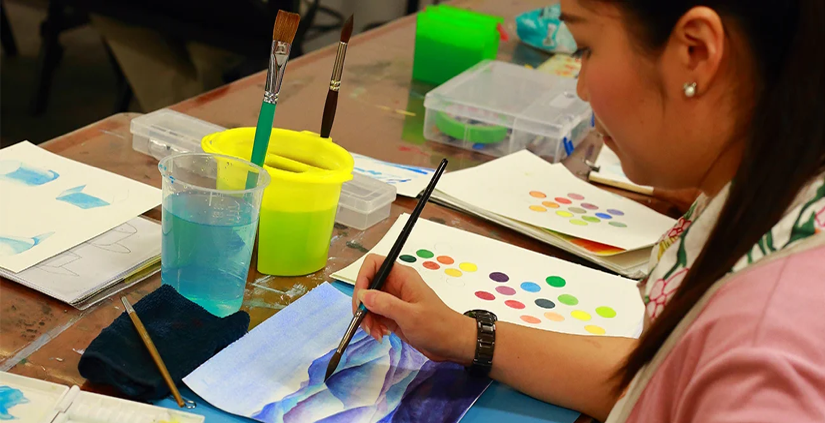 watercolour painting classes singapore - nafa