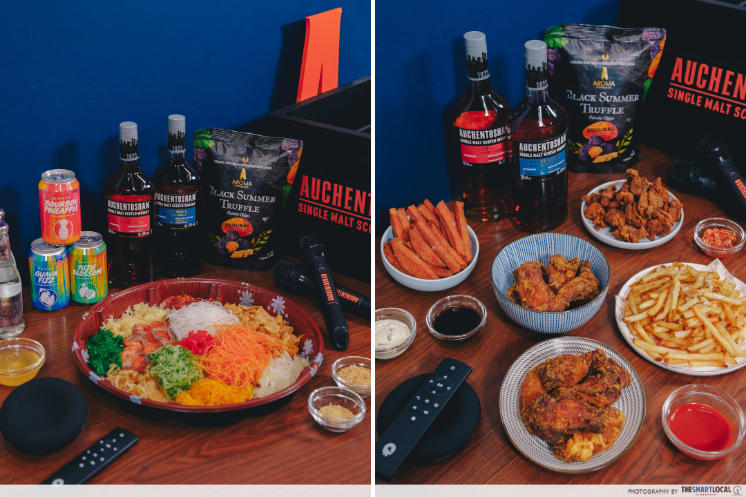 Auchentoshan Festive CNY Box with Zouk (from $288) and Auchentoshan Bundle Deal with Three Blind Pigs (from $238)
