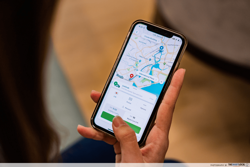 Booking Grab on iPhone