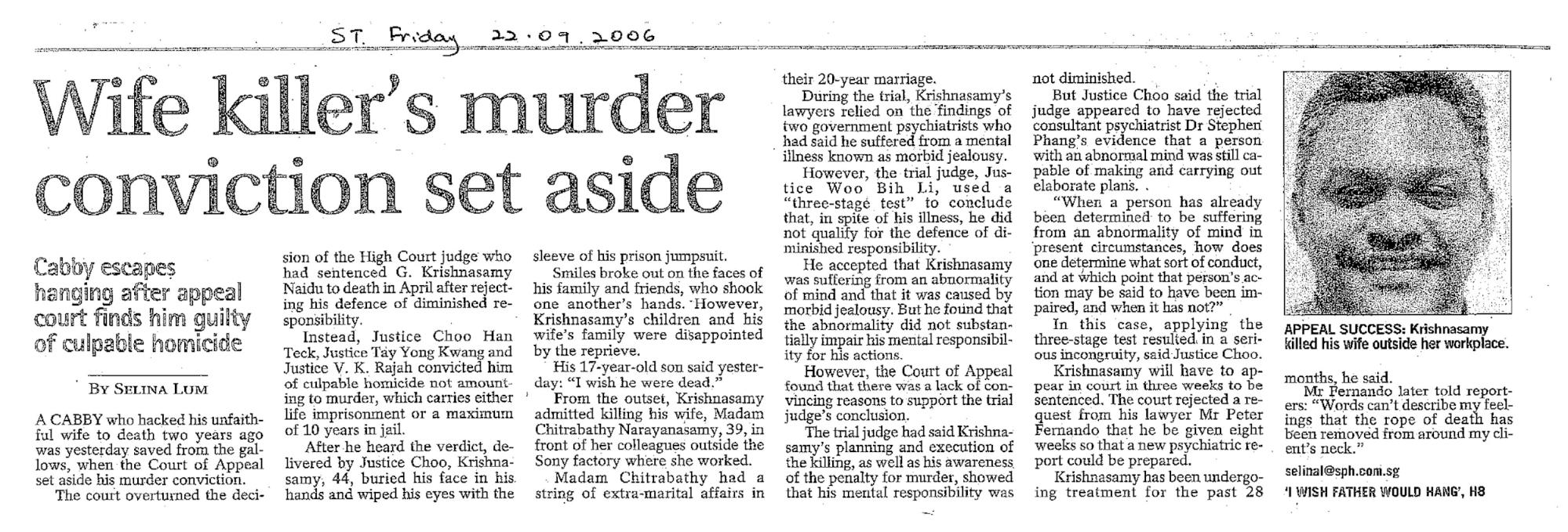 news report on G. Krishnasamy Naidu