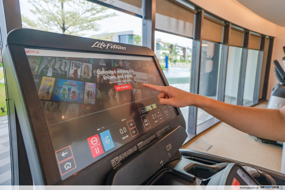 treadmill with netflix