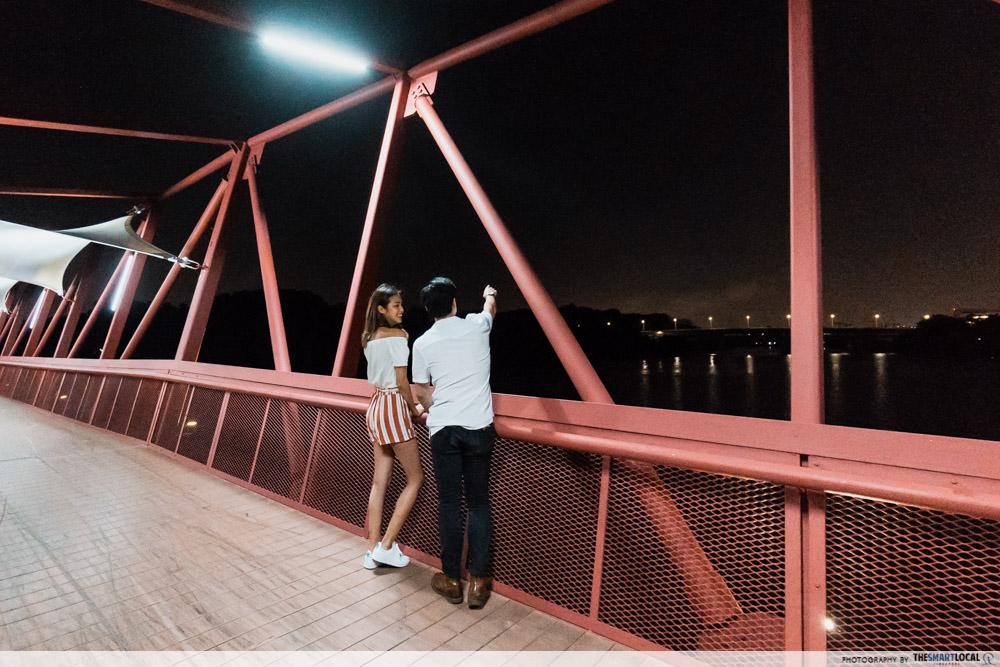 Punggol promenade riverside walk - late night date ideas