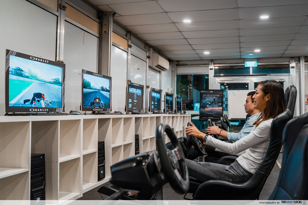 Racing simulators at The Karting Arena