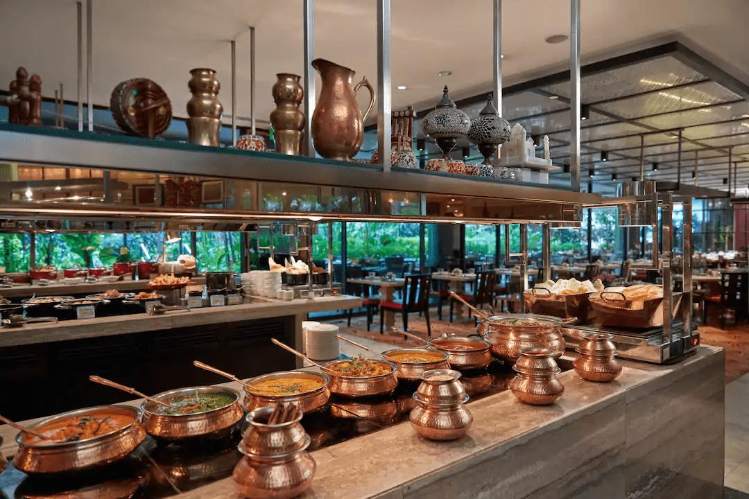 traveloka-staycation-packages - Mandarin Oriental buffet spread