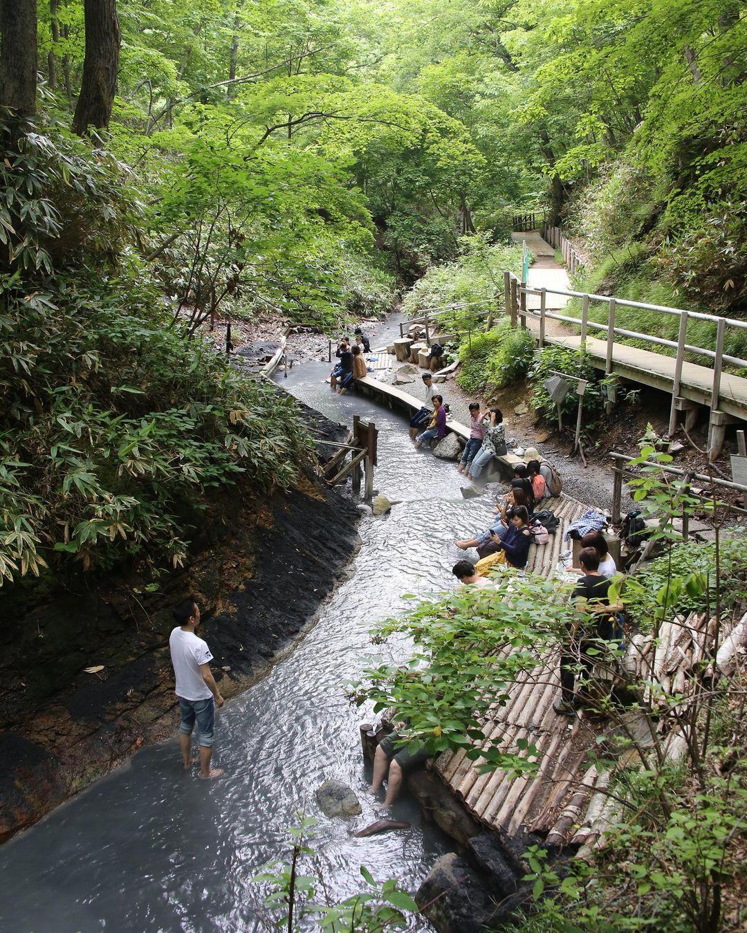 natural footbath at the oyunuma river